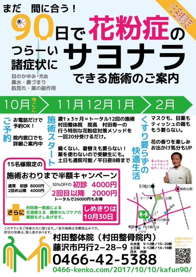 村田整体院の花粉症症状の改善メソッド